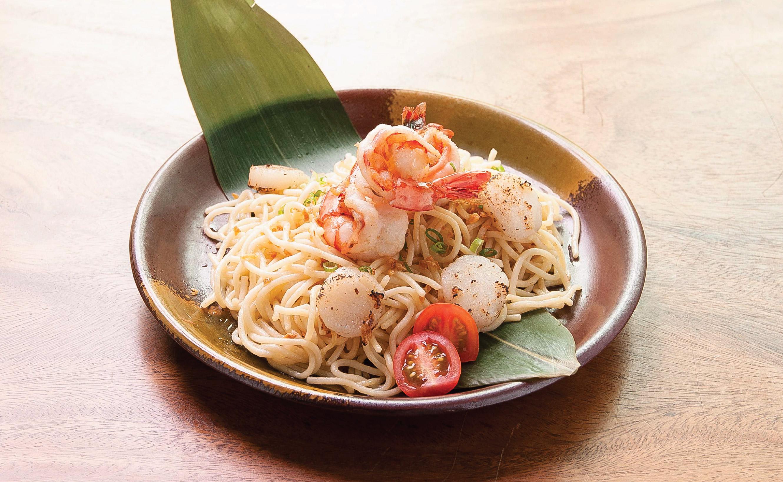Seafood Aglio Oioo Spaghetti