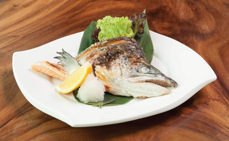 Salmon Kabuto Shioyaki